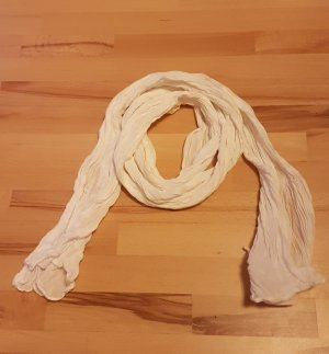 Crinkle Scarf natural white