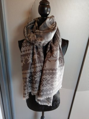 Schal Tuch Elche grau beige Made in Italy