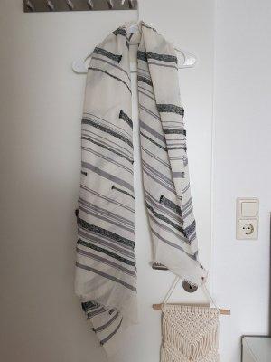 Esprit Sjaal met franjes zwart-lichtgrijs
