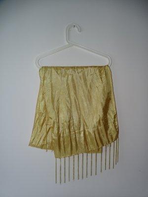 Écharpe à franges doré polyester