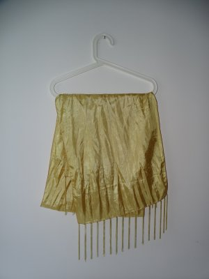 Schal Tuch Gold Fransen Glänzend Schimmernd L:175cm B:40cm (NP:12€)
