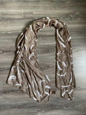 Schal Tuch Halstuch neu tchibo TCM braun Silber Gold Bronze Flecken glänzend