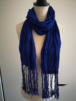 H&M Bufanda de flecos azul
