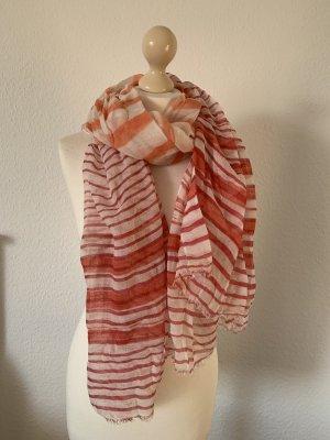 Schal Tuch Mango orange pink weiß sommerschal