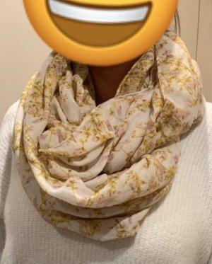 Schal Tuch mit Blumenmuster (Rundschal)