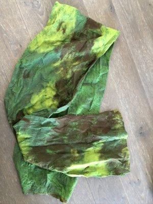 handmade Schoudersjaal veelkleurig Zijde