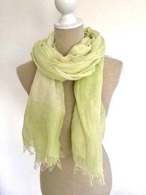 Schal Tuch Sommer grün limettengelb