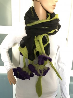 Handmade Shoulder Scarf multicolored chiffon