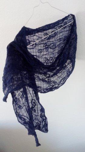 Vintage Bufanda arrugada azul