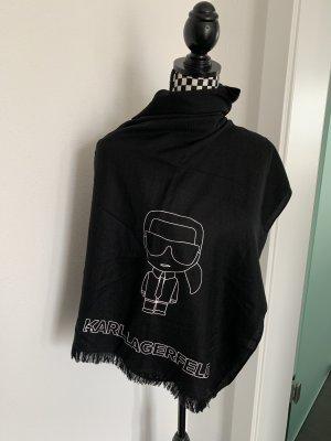 Karl Lagerfeld Chal veraniego negro-blanco