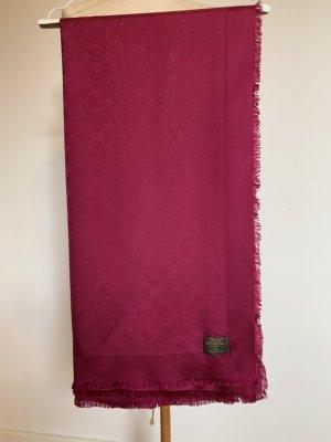 Louis Vuitton Bufanda de seda magenta-rojo frambuesa Seda