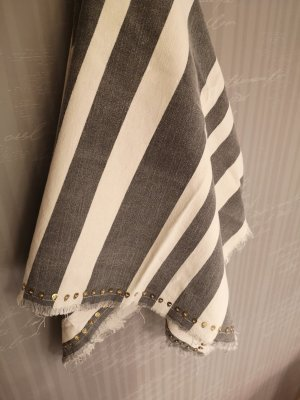 Zara Pañoleta gris-blanco puro