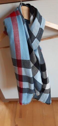 Schal Tuch XL Format blau