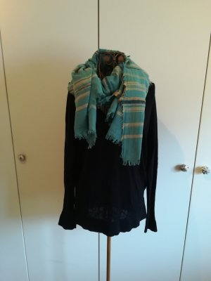 Esprit Fringed Scarf multicolored cotton