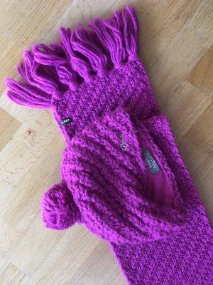 Barts Écharpe en laine magenta