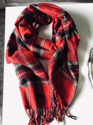 Abercrombie & Fitch Écharpe en laine rouge foncé-vert forêt
