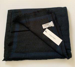Calvin Klein Jeans Sjaal met franjes zwart-donkerblauw