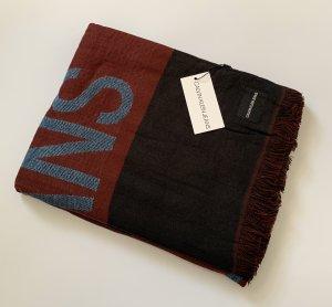 Calvin Klein Jeans Sjaal met franjes zwart-karmijn