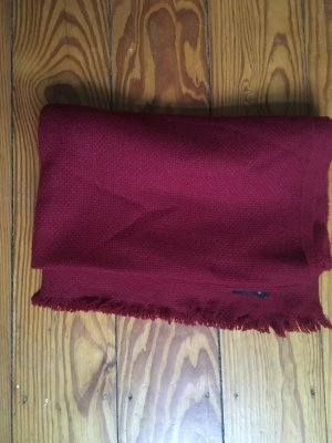 COS Bufanda de lana carmín-rojo oscuro