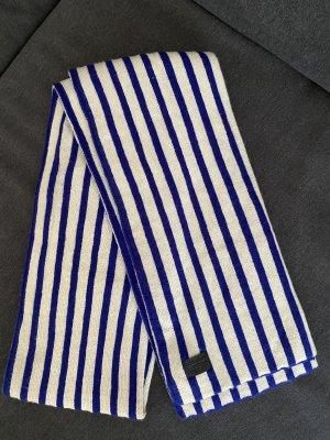 G-Star Bufanda de punto azul-blanco