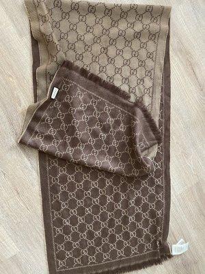 Gucci Bufanda de lana marrón-camel Lana