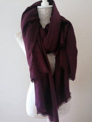 H&M Écharpe en laine rouge mûre-violet