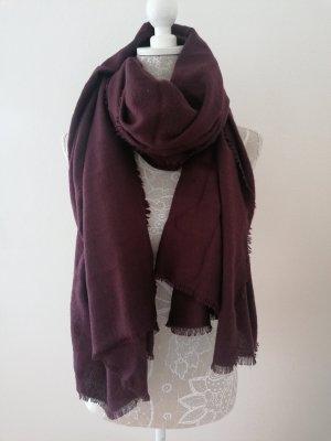 H&M Woolen Scarf bordeaux-blackberry-red