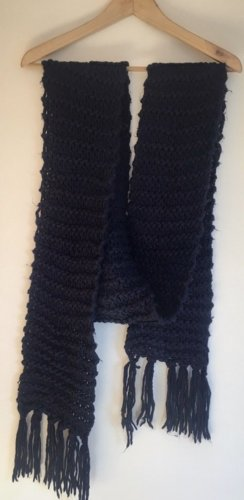 H&M Crochet Scarf dark blue