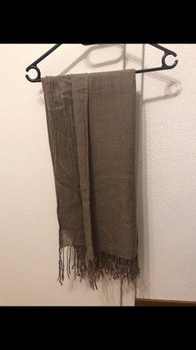 H&M Sjaal met franjes grijs-bruin-taupe