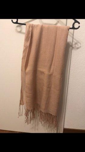 H&M Sjaal met franjes stoffig roze-rosé