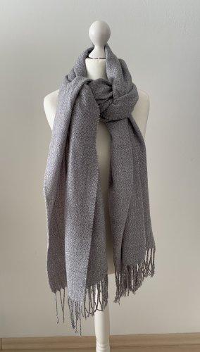 Kiomi Écharpe à franges gris clair-gris