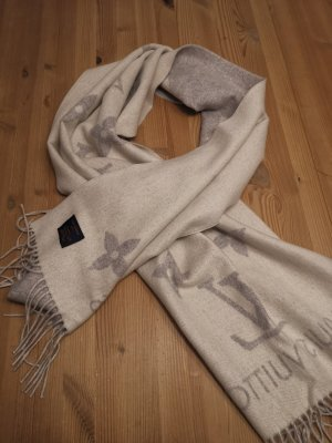 Louis Vuitton Cashmere Scarf light grey-cream cashmere