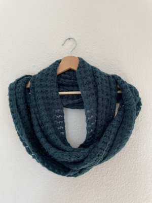 Pieces Knitted Scarf petrol