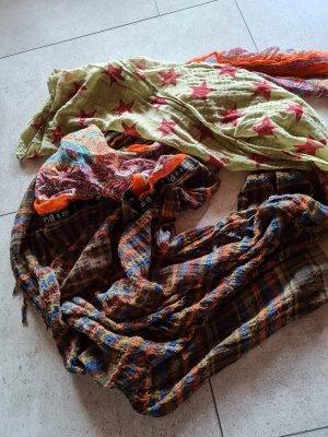 Plomo o plata Écharpe en soie multicolore