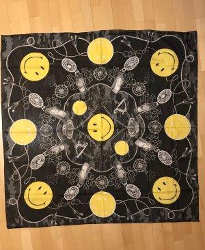 Plomo o plata Bufanda de seda negro-amarillo Algodón