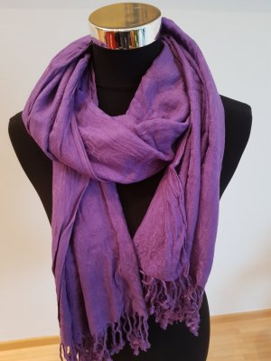 United Colors of Benetton Fringed Scarf dark violet