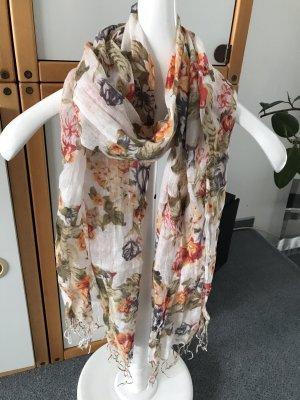 Schal, Weiß gemustert