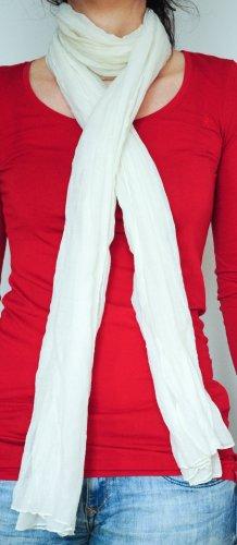 Schal weiß Knitterlook