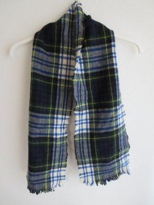 Sciarpa di lana blu scuro-bianco Lana
