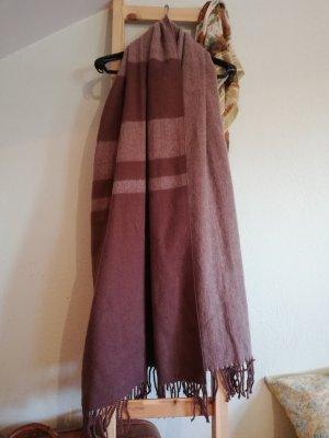 Anna Field Écharpe en tricot beige-brun rouge