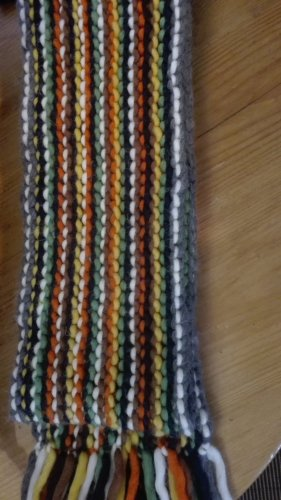 Handarbeit Knitted Scarf multicolored