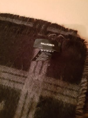 Hallhuber Bufanda de lana negro-gris
