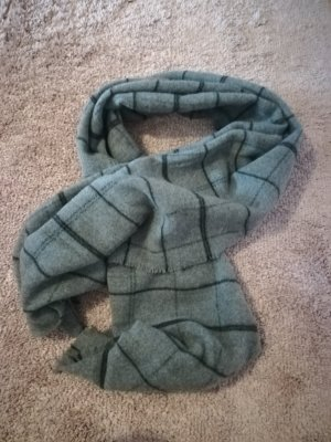 Zara Accesoires Écharpe en tricot gris foncé