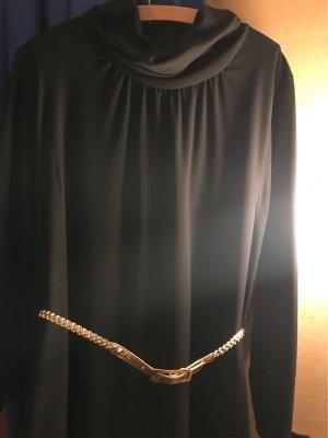 Schalkragen Kleid / schwarz , Gr 44 / bleyle
