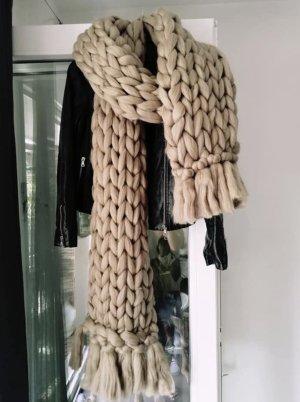 Bufanda de lana crema
