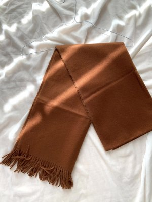 H&M Bufanda de flecos coñac-marrón