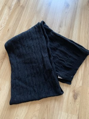 Blue Motion Knitted Scarf black