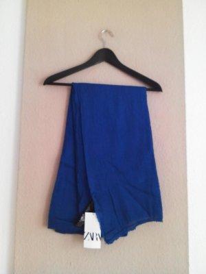 Zara Knitted Scarf blue polyacrylic