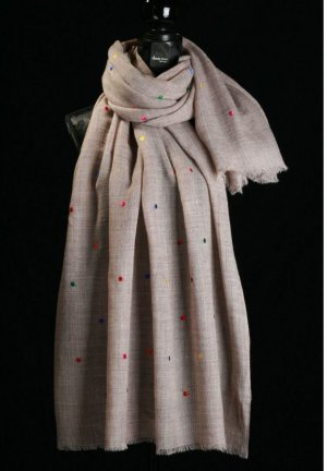 Neckerchief grey brown wool