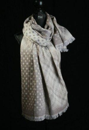 Neckerchief silver-colored-beige wool